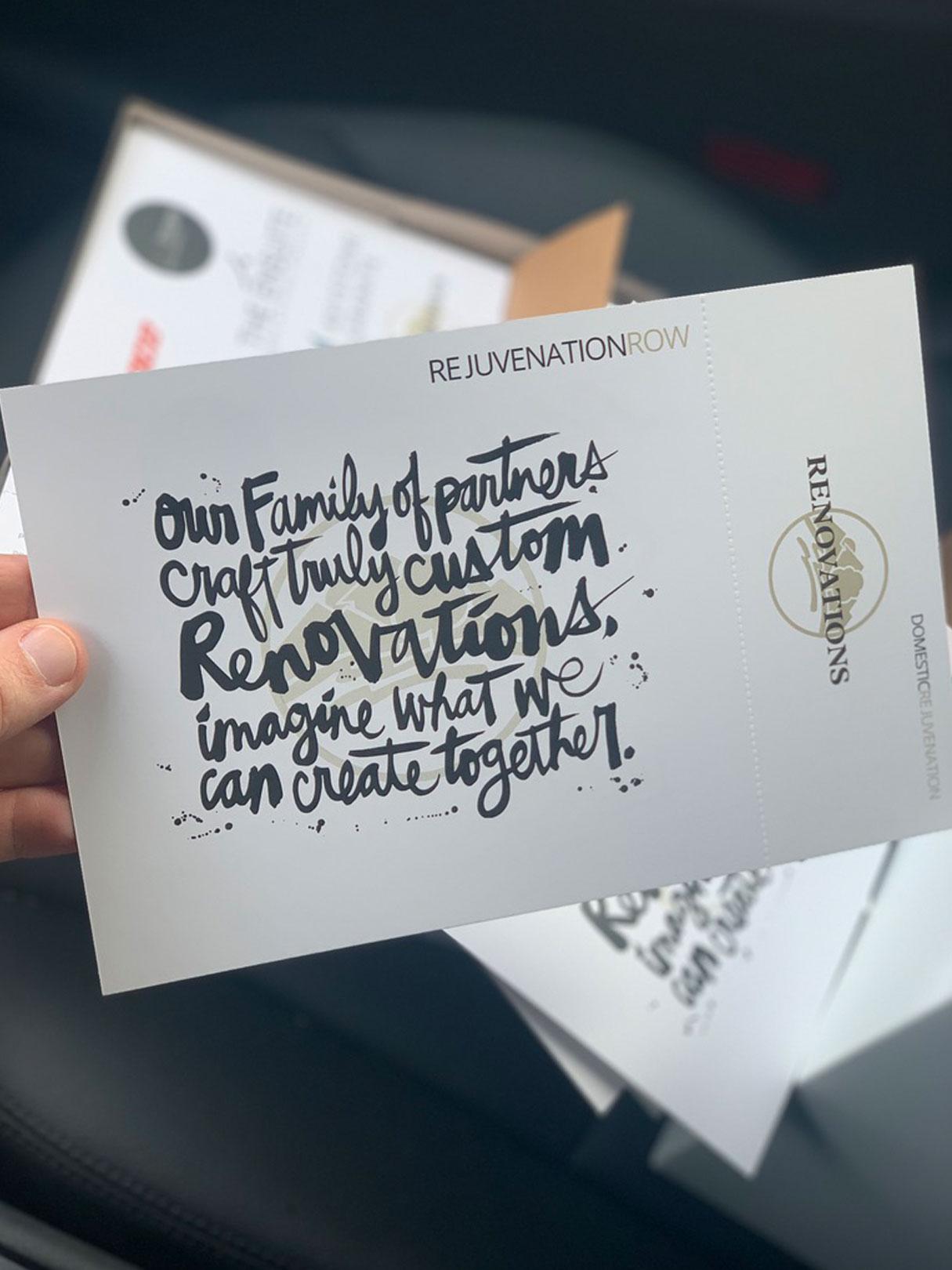 postcard design and print